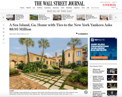 Wall Street Journal Mansion - March 24, 2016