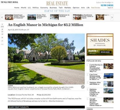 Wall Street Journal Mansion - April 22, 2015