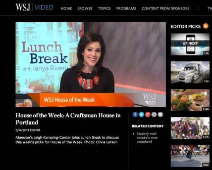Wall Street Journal Lunch Break With Tanya Rivero - May 6, 2015