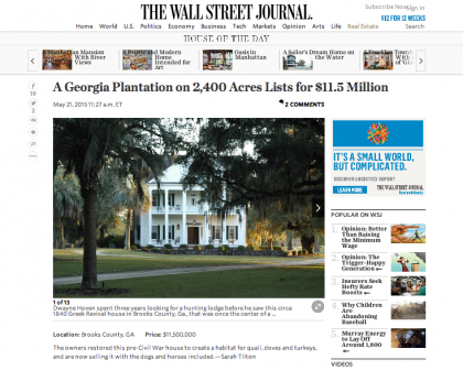 Wall Street Journal Mansion - May 21, 2015