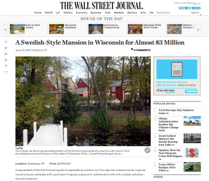 Wall Street Journal Mansion - June 10, 2015