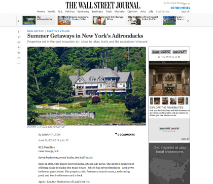 WSJ Mansion 'Relative Values' - June 17, 2015