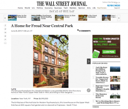 Wall Street Journal Mansion - June 25, 2015