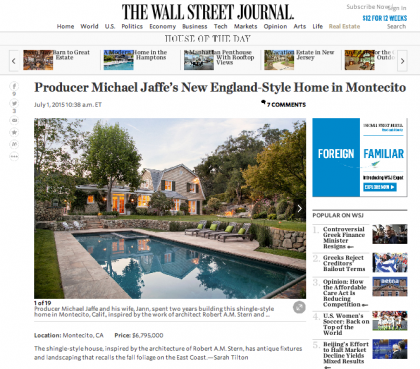 Wall Street Journal Mansion - July 6, 2015