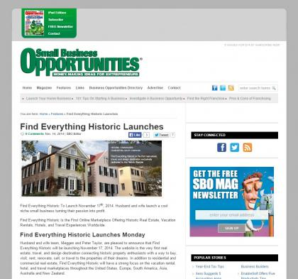 Small Business Opportunities - November 14, 2014