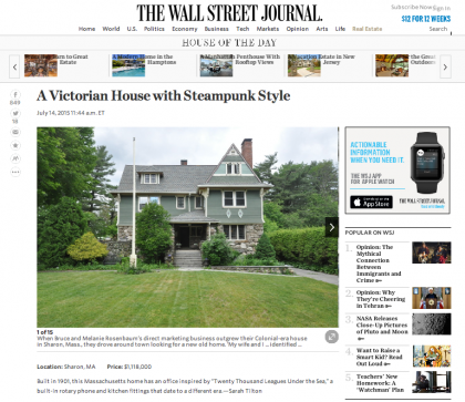 Wall Street Journal Mansion  - July 15, 2015