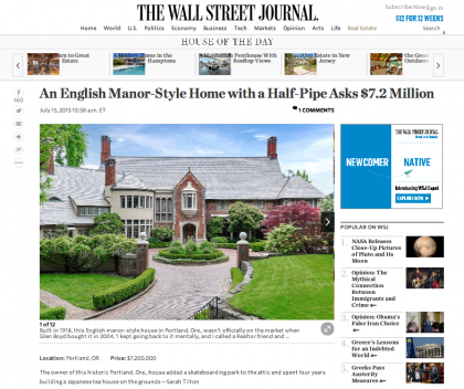 Wall Street Journal Mansion  - July 16, 2015