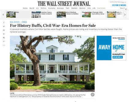 Wall Street Journal Mansion  - July 23, 2015