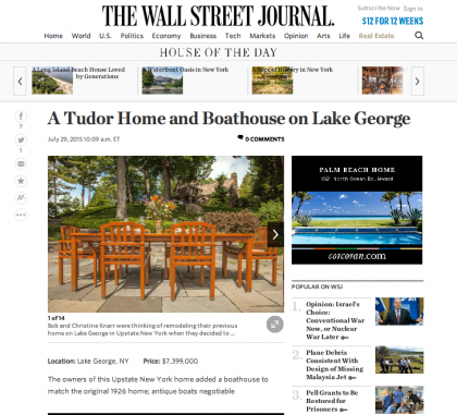 Wall Street Journal Mansion  - July 29, 2015