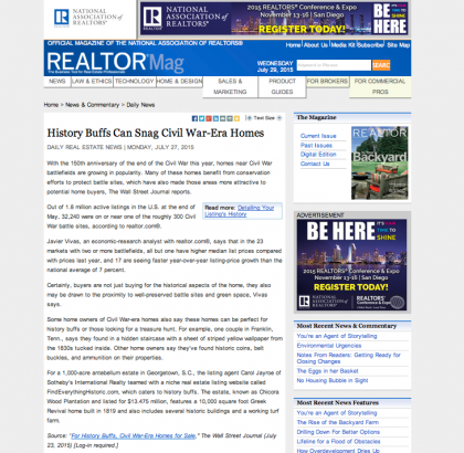 Realtor Magazine - July 27, 2015
