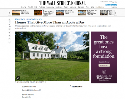 Wall Street Journal Mansion  - October 8, 2015
