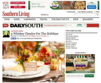 Southern Living/The Daily South - November 19, 2015