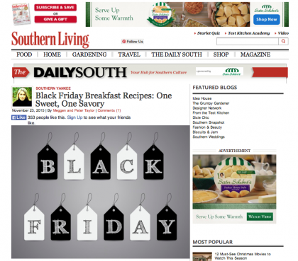 Southern Living/The Daily South - November 23, 2015