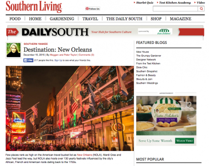 Southern Living/The Daily South - December 10, 2015