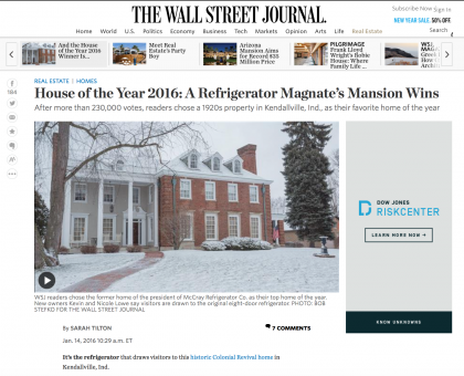 Wall Street Journal Mansion  - January 14, 2016