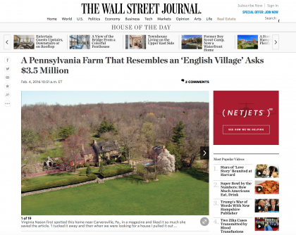 Wall Street Journal Mansion  - February 4, 2016
