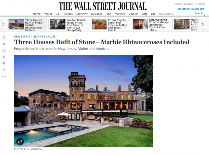 Wall Street Journal Mansion  - February 11, 2016